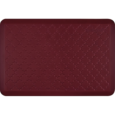 Wellnessmats® Estates Trellis 3' x 2' Anti-Fatigue Floor Mat, Red Sea (ET32WMRRBUR)