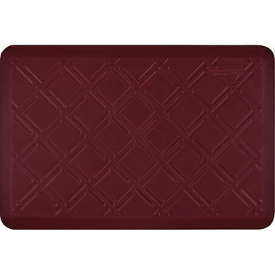 Wellnessmats® Estates Moiré 3' x 2' Anti-Fatigue Floor Mat, Red Sea (EM32WMRRBUR)