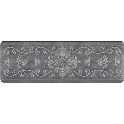Wellnessmats® Estates Entwine 6' x 2' Anti-Fatigue Floor Mat, Slate (EE62WMRBNGRY)