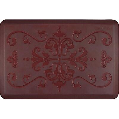 Wellnessmats® Estates Entwine 3' x 2' Anti-Fatigue Floor Mat, Palm Wood (EE32WMRRGRY)