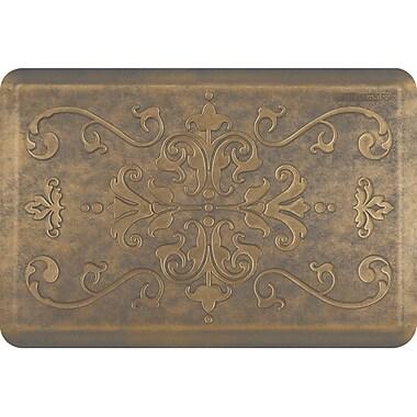 Wellnessmats® Estates Entwine 3' x 2' Anti-Fatigue Floor Mat,Antique Gold (EE32WMRBGGRY)