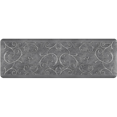 Wellnessmats® Estates Bella 6' x 2' Anti-Fatigue Floor Mat, Slate (EB62WMRBNGRY)
