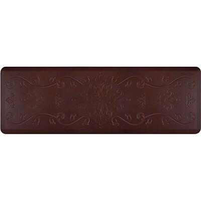 Wellnessmats® Estates Entwine 6' x 2' Anti-Fatigue Floor Mat, Coconut (EE62WMRRBLK)