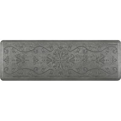Wellnessmats® Estates Entwine 6' x 2' Floor Mat, Silver Leaf (EE62WMRSL)