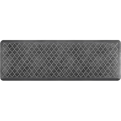 Wellnessmats® Estates Trellis 6' x 2' Anti-Fatigue Floor Mat, Onyx (ET62WMRBNBLK)