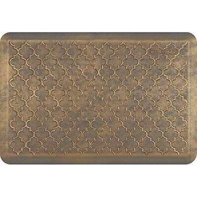 Wellnessmats® Estates Trellis 3' X 2' Bg/Gry, Antique Gold (ET32WMRBGGRY)