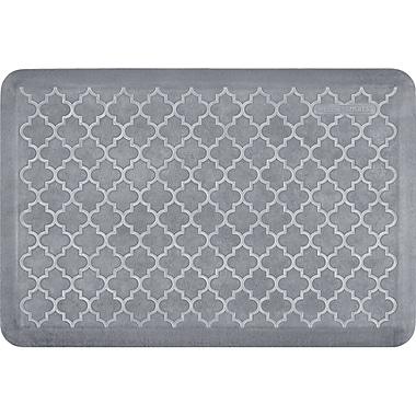 Wellnessmats® Estates Trellis 3' x 2' Anti-Fatigue Floor Mat, Beach Glass (ET32WMRWGRY)