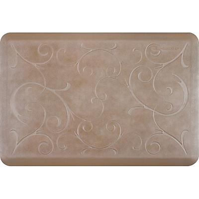 Wellnessmats® Estates Bella 3' x 2' Anti-Fatigue Floor Mat, Sandstone (EB32WMRBNTAN)