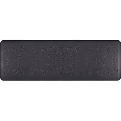 Wellnessmats® Estates Entwine 6' x 2' Anti-Fatigue Floor Mat, Midnight Blue (EE62WMRBBLK)