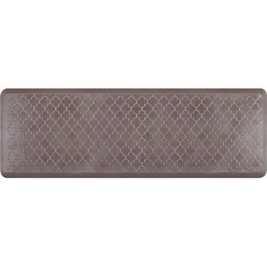 Wellnessmats® Estates Trellis 6' x 2' Anti-Fatigue Floor Mat, Quartz (ET62WMRBNBRN)