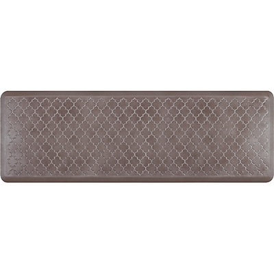 Wellnessmats® Estates Trellis 6' x 2' Anti-Fatigue Floor Mat, Quartz (ET62WMRBNBRN)