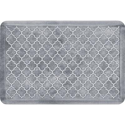 Wellnessmats® Estates Trellis 3' x 2' Anti-Fatigue Floor Mat, Sea Mist (ET32WMRWBLK)