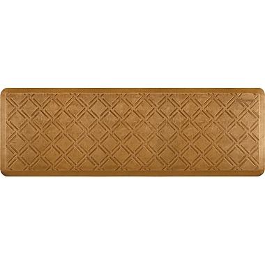 Wellnessmats® Estates Moiré 6' x 2' Floor Mat, Copper Leaf (EM62WMRCL)