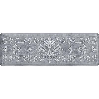 Wellnessmats® Estates Entwine 6' x 2' Anti-Fatigue Floor Mat, Sea Mist (EE62WMRWBLK)