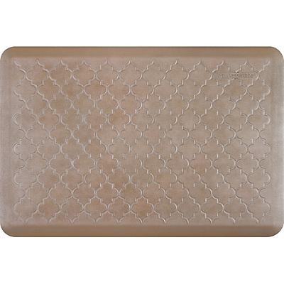 Wellnessmats® Estates Trellis 3' x 2' Anti-Fatigue Floor Mat, Sandstone (ET32WMRBNTAN)