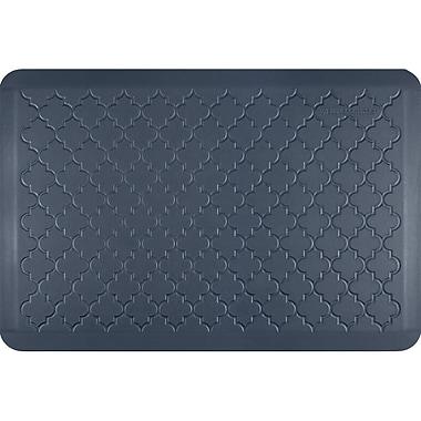 Wellnessmats® Estates Trellis 3' x 2' Anti-Fatigue Floor Mat, Lagoon (ET32WMRBGRY)