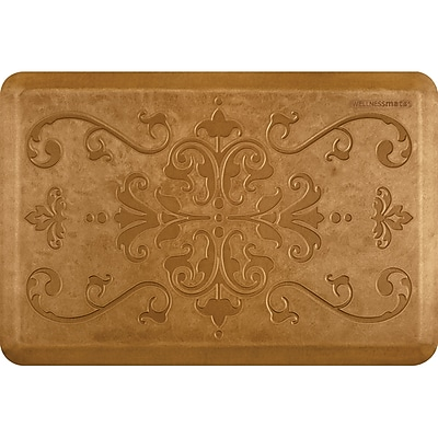 Wellnessmats® Estates Entwine 3' x 2' Anti-Fatigue Floor Mat, Copper Leaf (EE32WMRCL)