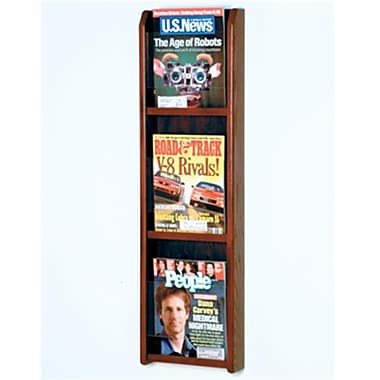Wooden Mallet Countertop Magazine Display in Mahogany (WDNM367)