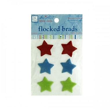 Bulk Buys Cg541 My Precious Boy Flocked Star Brads Pack Of 24 (SWM10633)