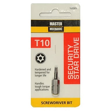 Disston 1 in. Master Mechanic TX10 Torx Security Bit (TRVAL107340)
