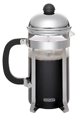 BonJour 12 Cup/50.7 oz. Monet French Press, Stainless Steel (53346)