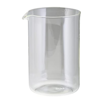 BonJour Universal French Press 3 Cup/12.7 oz. Replacement Glass, Glass (53316)