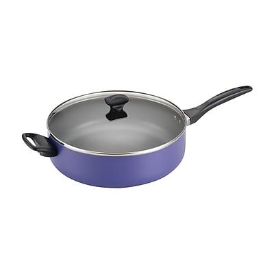 Farberware Dishwasher Safe Nonstick 6qt.Covered Jumbo Cooker with Helper Handle, Purple (21912)