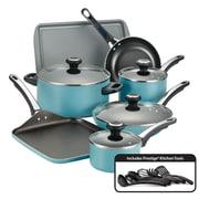 Farberware High Performance Nonstick 17 Piece Cookware Set, Aqua (21926)