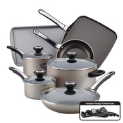 Farberware High Performance Nonstick 17 Piece Cookware Set, Champagne (21925)