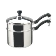 Farberware Classic Series 2qt. Covered Saucepan with Double Boiler Insert, Stainless Steel (50057)