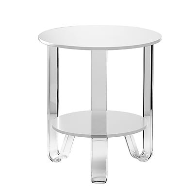 Adesso Jordan Accent Table White (WK2067-02)