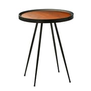 Adesso Baldwin End Table Walnut/Black (WK2084-15)