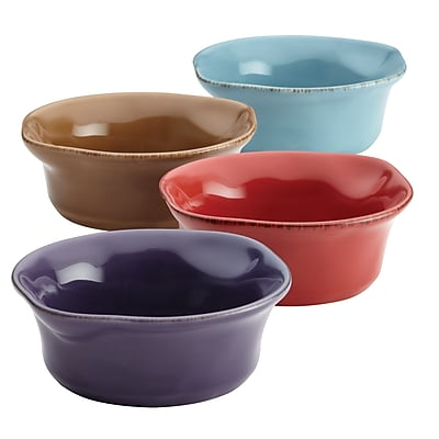 Rachael Ray Cucina Stoneware 4 Piece Dipping Cup Set, Assorted (46629) 2554978