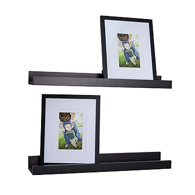 Danya B Ledge Shelves with 2 Photo Frames