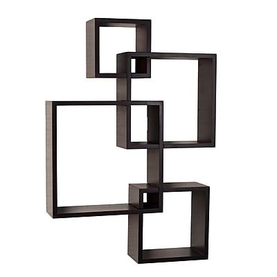 Danya B. Intersecting Cube Shelves - Espresso (BR1023ES)