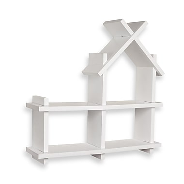 Danya B House Design White Wall Shelf (XF11144WH)