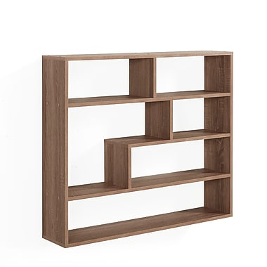 Danya B Large Rectangular Shelf Unit, Weathered Oak (XF151012OK)