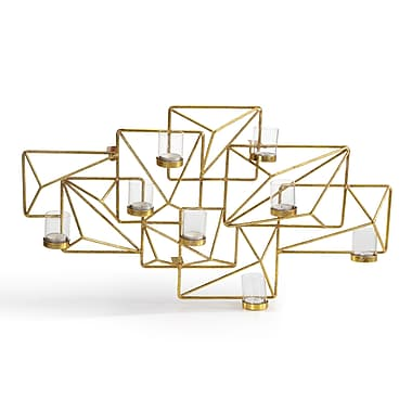 Danya B Sparkling Gold Geometric Candle Wall Sconce (DS439)
