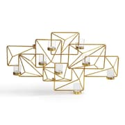 Danya B. Sparkling Gold Geometric Candle Wall Sconce (DS439)