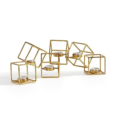Danya B Sparkling Gold Six Cube Candle Holder (DS481)
