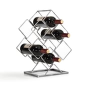 Danya B. Antique Silver Electroplated 6 Bottle Wine Rack (HG11636)