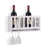 "Danya B. ""WINE"" 4 Bottle & Wineglass Wall Holder (KS19178WH)"