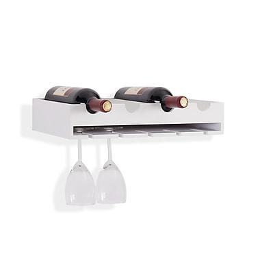 Danya B. 4 Laying Wine Bottle & Wineglass Wall Holder (KS19179WH)