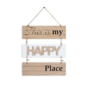 "Danya B. ""This Is My Happy Place"" Sectioned Wooden Wall Plaque (KS05910A)"