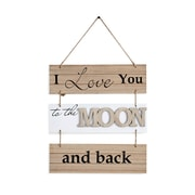 "Danya B. ""I Love You to the Moon and Back"" Sectioned Wooden Wall Plaque (KS05910B)"