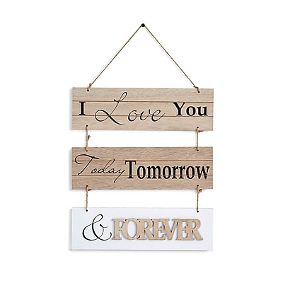 "Danya B. ""I Love You Today, Tomorrow, & Forever"" Sectioned Wooden Wall Plaque (KS05910D)"