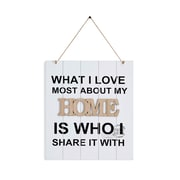 """Danya B. """"What I Love Most About My Home Is Who I Share It With"""" Wooden Wall Plaque (KS18909A)"""