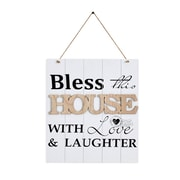 "Danya B. ""Bless This House With Love & Laughter"" Wooden Wall Plaque (KS18909C)"