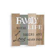 "Danya B. ""Family, Where Life Begins and Love Never Ends"" Wooden Wall Plaque (KS19028A)"