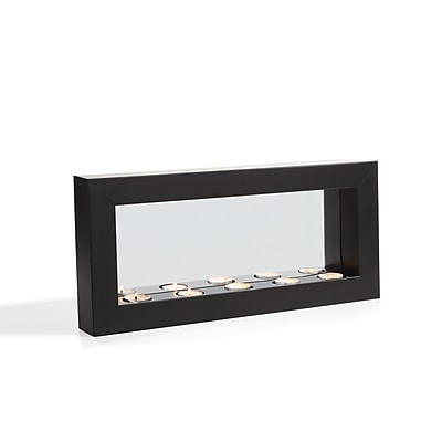 Danya B. Horizontal Mirror Tealight Candle Sconce with Metal Frame (SE1473)
